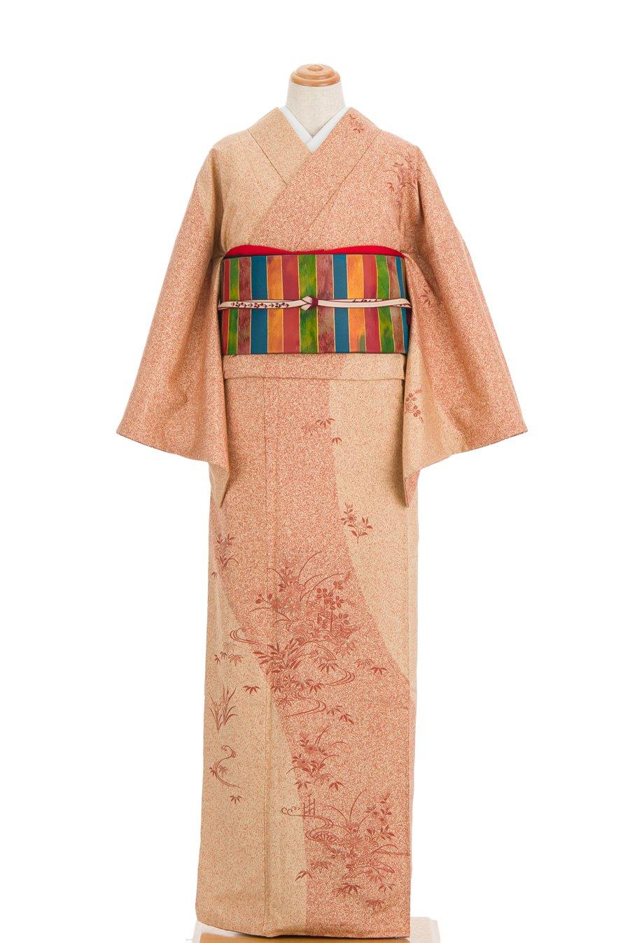 「染大島紬訪問着 叩き染め 秋草」の商品画像