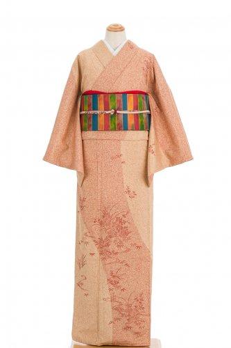 染大島紬訪問着 叩き染め 秋草のサムネイル画像