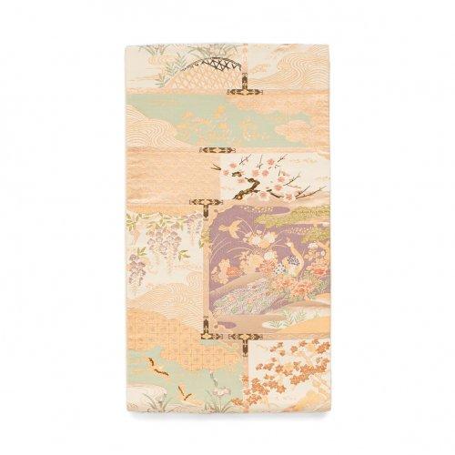 袋帯●四季花と鳥のサムネイル画像