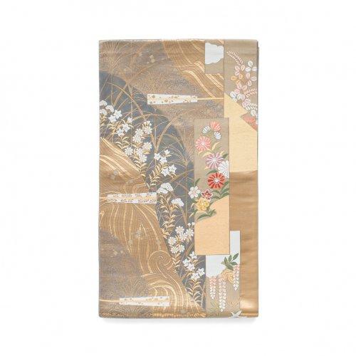 袋帯●花短冊と扇のサムネイル画像