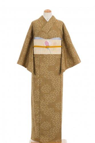 単衣 紬 細縞に紗綾型のサムネイル画像