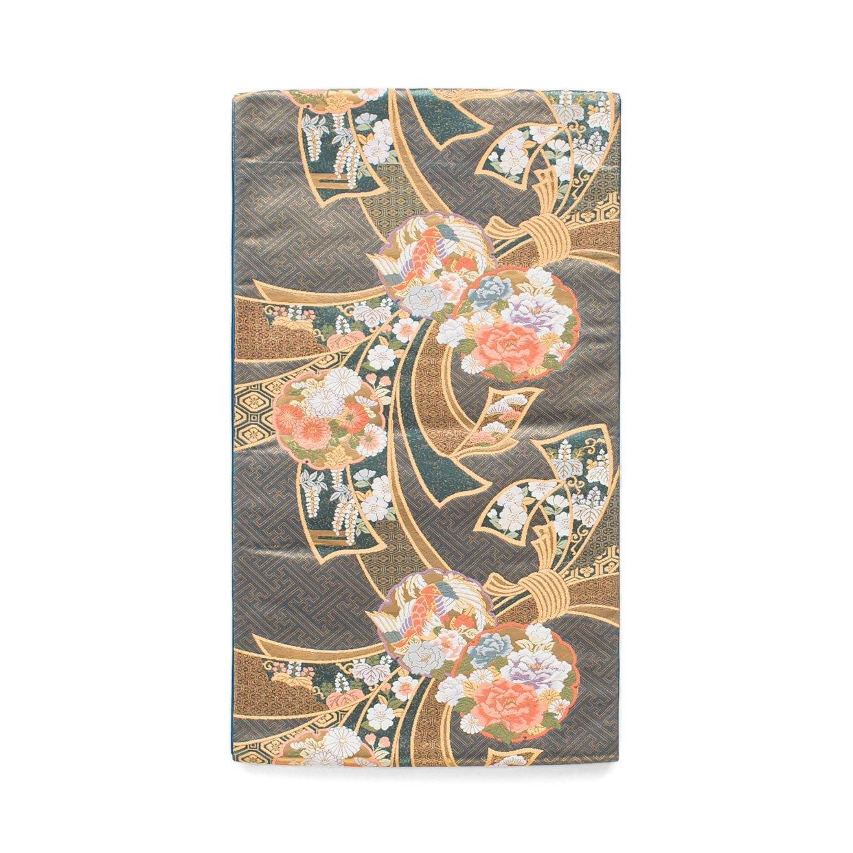 「袋帯●束ね熨斗と花の雪輪」の商品画像