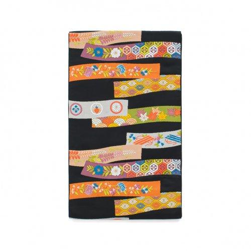 袋帯●カラフルな短冊模様のサムネイル画像