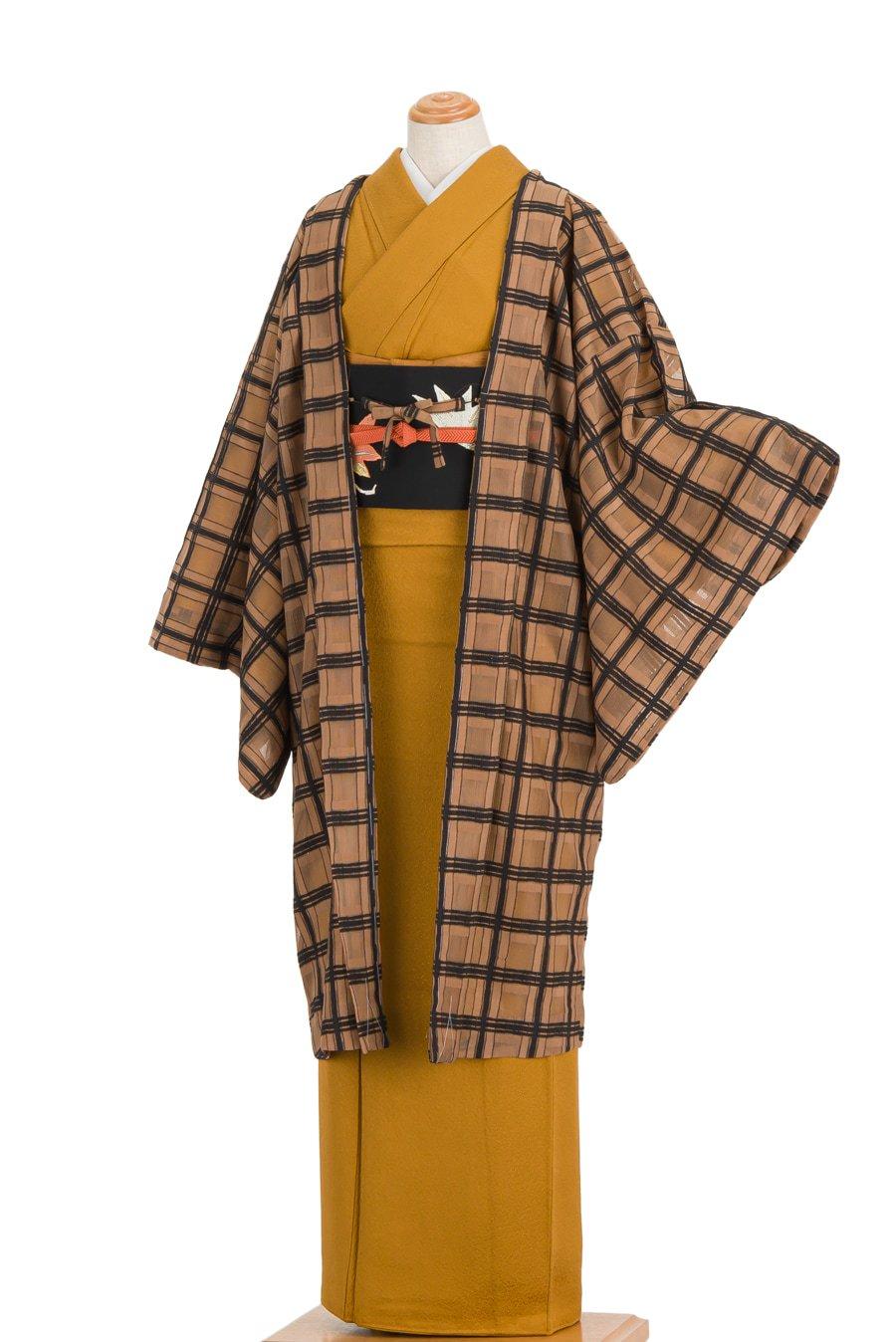 「長羽織 チョコレートブラウン スクエアレース」の商品画像