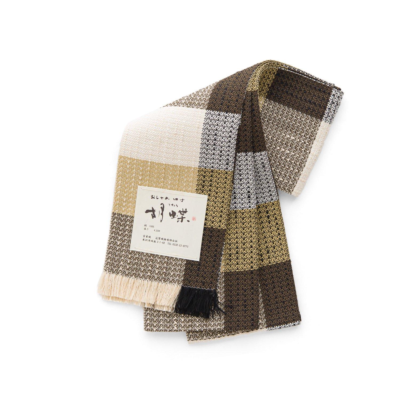 「宝来織 四寸帯 ブラウンの格子」の商品画像