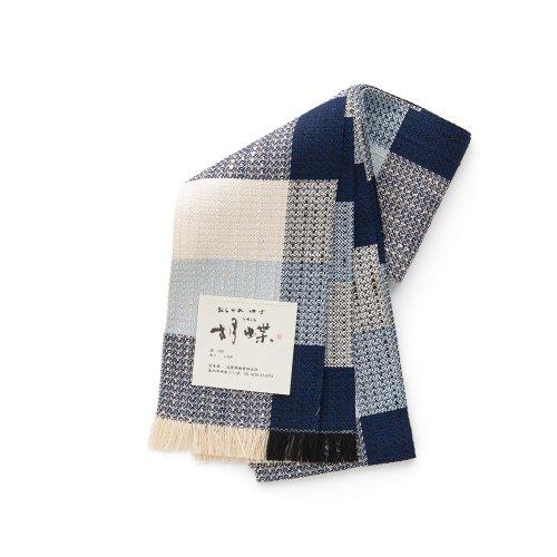 宝来織 四寸帯 ネイビーの格子のサムネイル画像