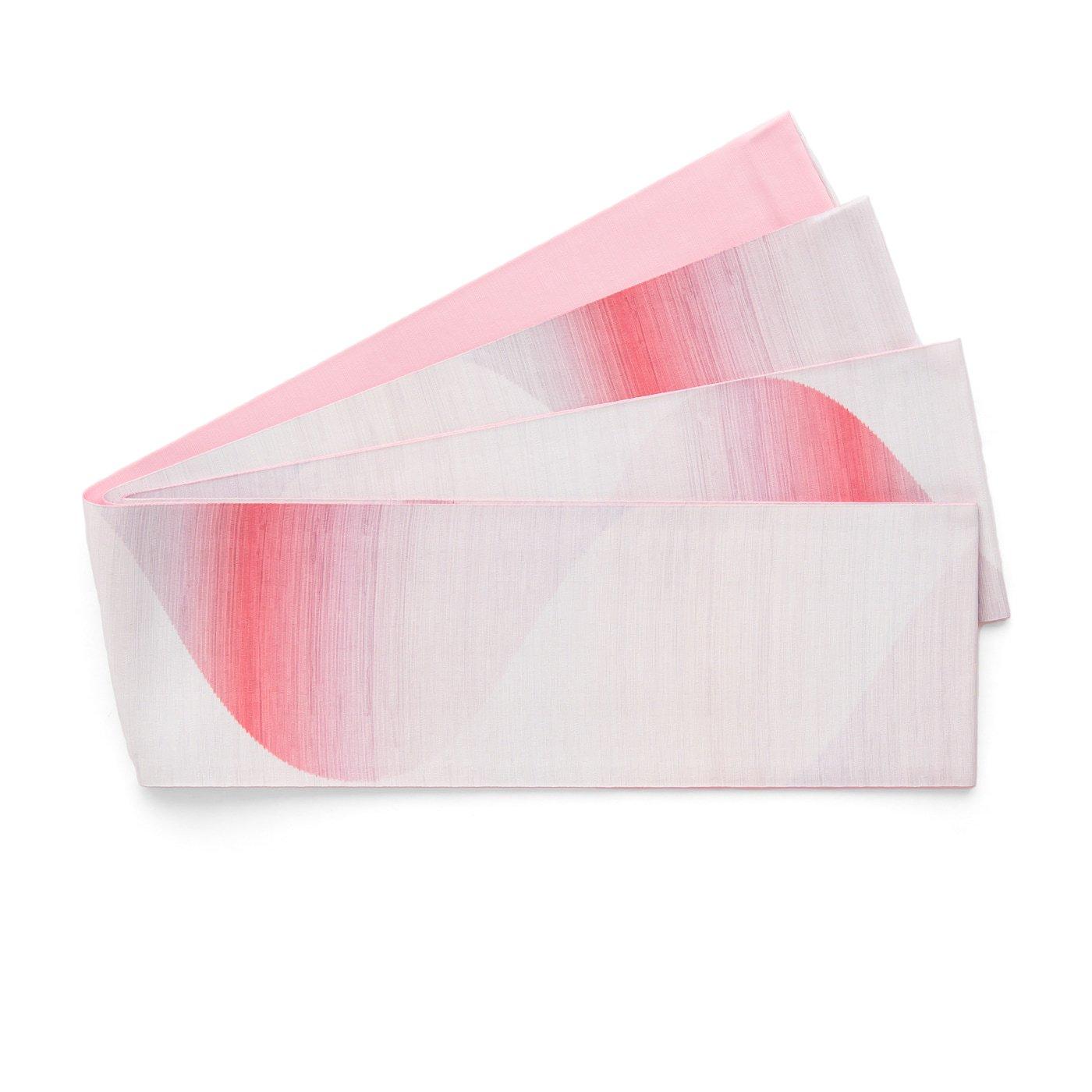 「長尺半幅帯 曲線暈し ピンク」の商品画像