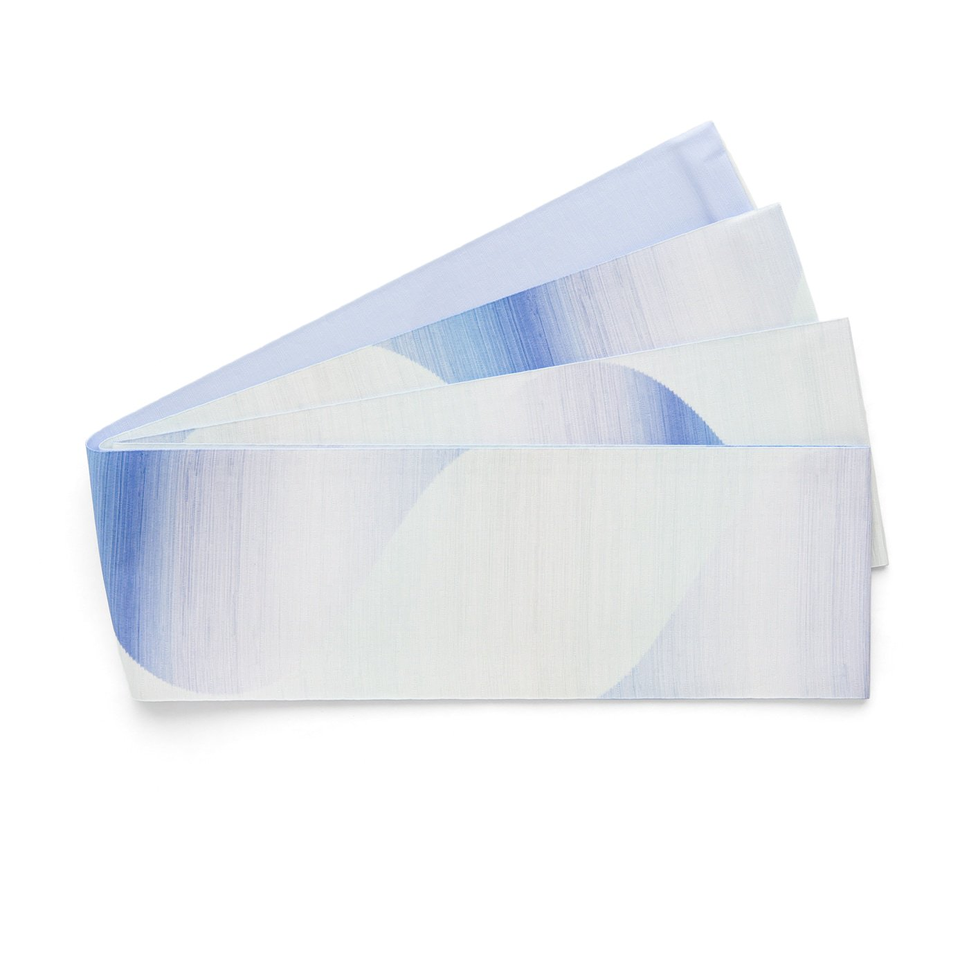「長尺半幅帯 曲線暈し 青紫」の商品画像