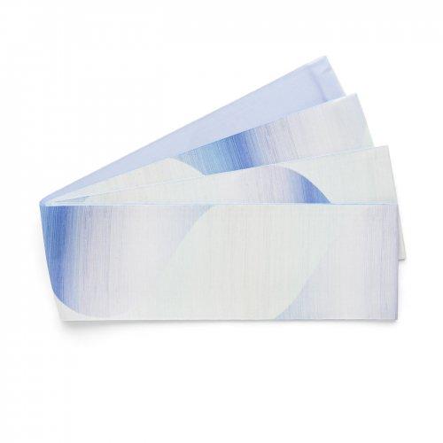 長尺半幅帯 曲線暈し 青紫のサムネイル画像