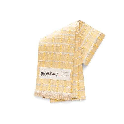 紙格子四寸帯 黄色格子のサムネイル画像