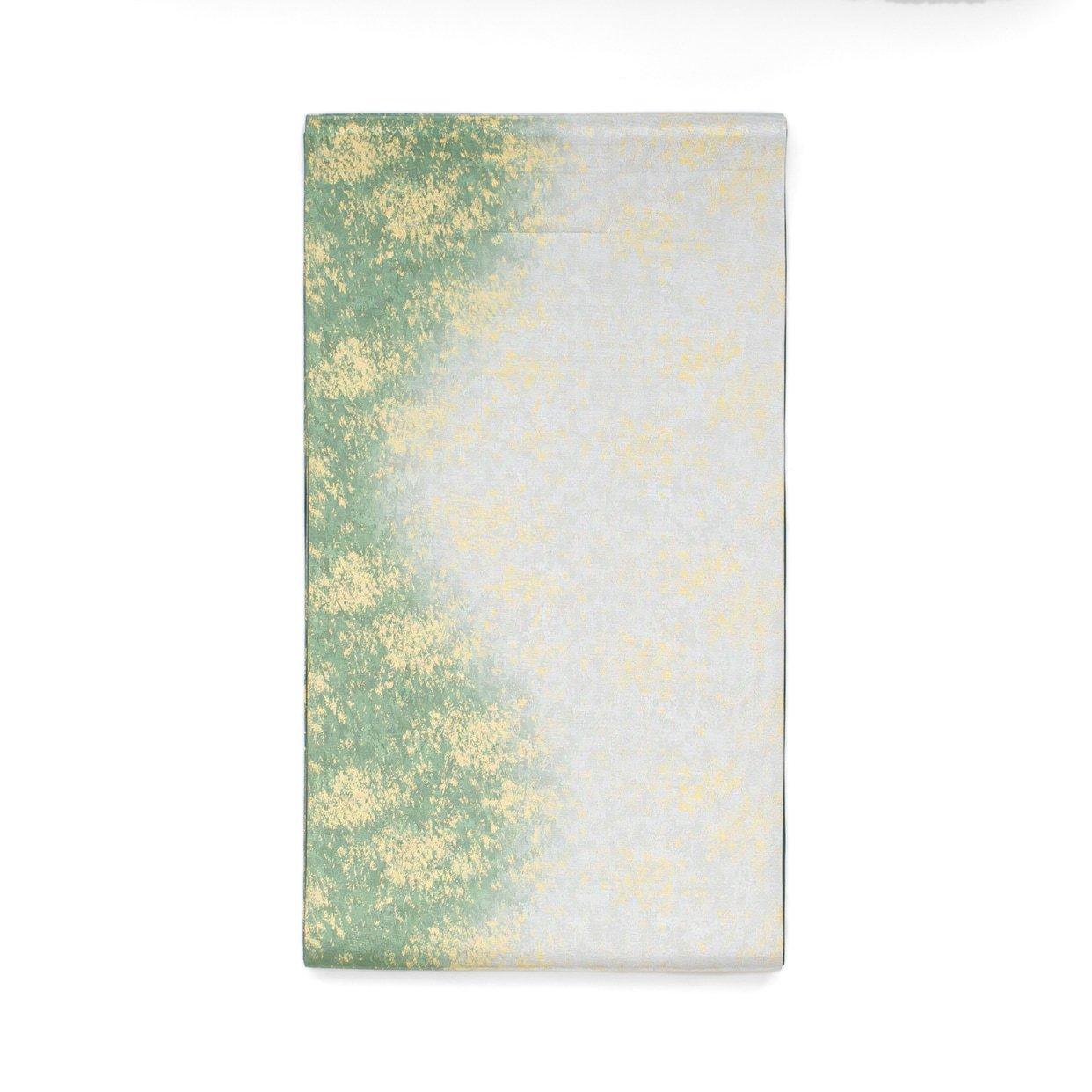 「袋帯●緑と銀の霞」の商品画像