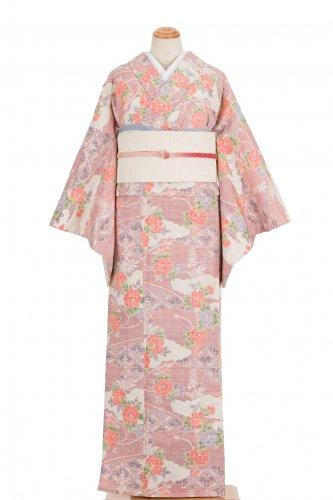 単衣 紬 雲取りに菊や藤のサムネイル画像