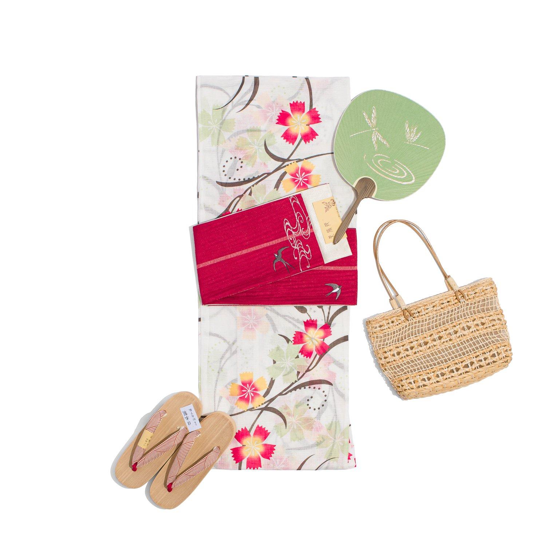 「新品浴衣 綿麻 撫子」の商品画像