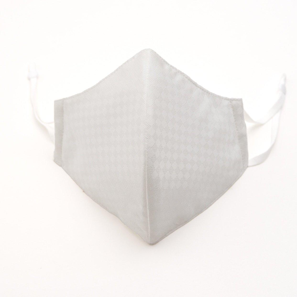 「立体 白 IRODORI SILK MASK 絹マスク 小杉織」の商品画像