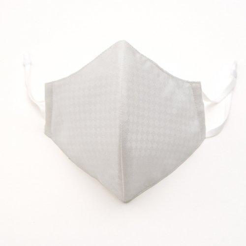 立体 白 IRODORI SILK MASK 絹マスク 小杉織のサムネイル画像