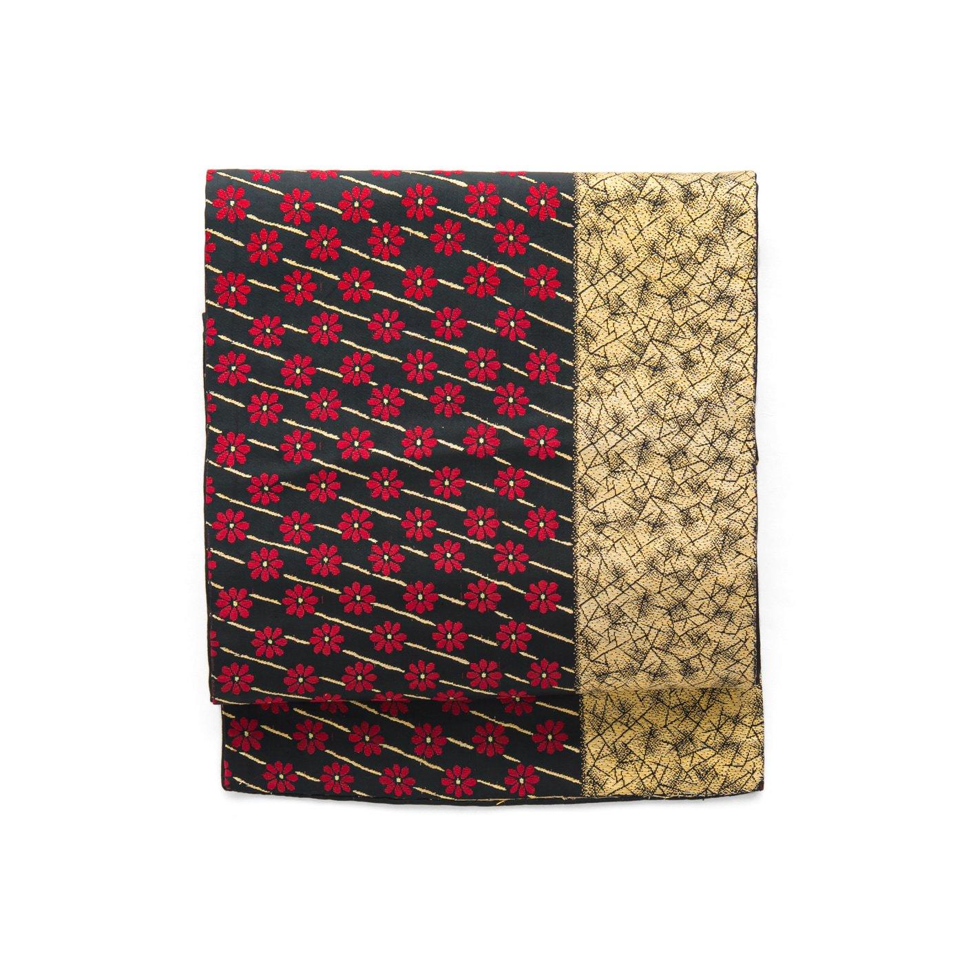 「アンティーク着物 小菊と斜め縞」の商品画像