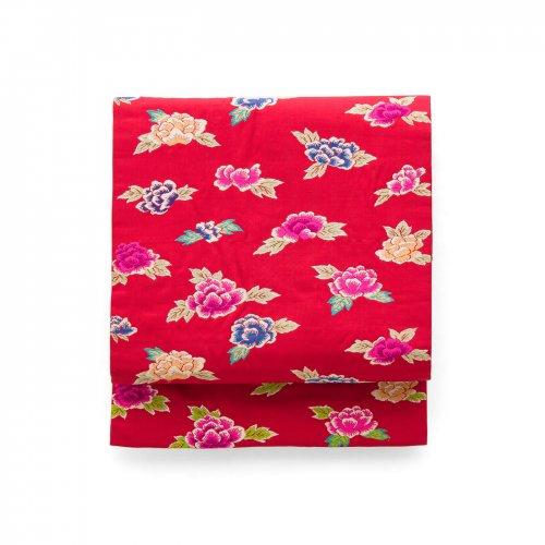 セミアンティーク着物 赤に牡丹のサムネイル画像