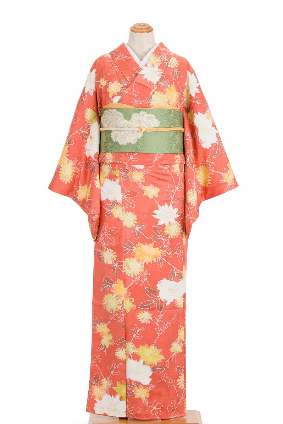「サーモンピンク 地紋起こしの菊」の商品画像