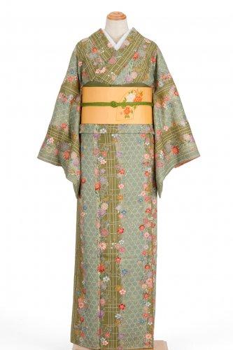 格子に菊や桜などのサムネイル画像