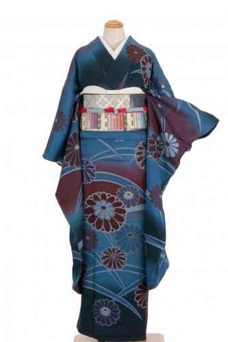単衣振袖 芝草と菊のサムネイル画像