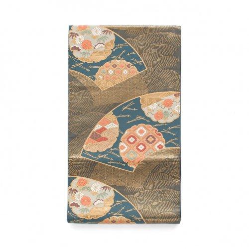 袋帯●扇面に雪輪と松葉のサムネイル画像