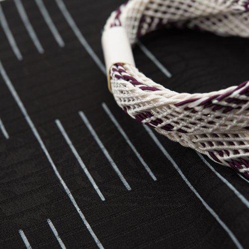 夏 帯揚げ帯締めセット ブラックラインのサムネイル画像