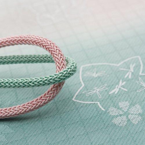 夏 帯揚げ帯締めセット ソーダ色 トンボのサムネイル画像