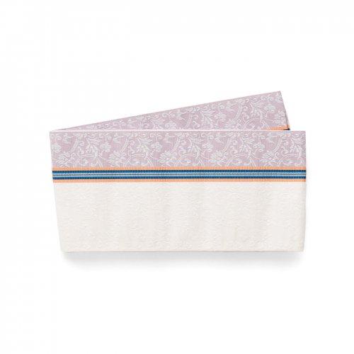 博多小袋帯 薄紫と白 唐花のサムネイル画像