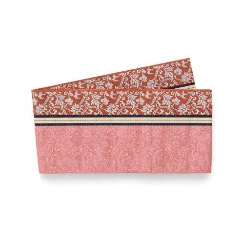 博多小袋帯 ローズピンク 唐花のサムネイル画像
