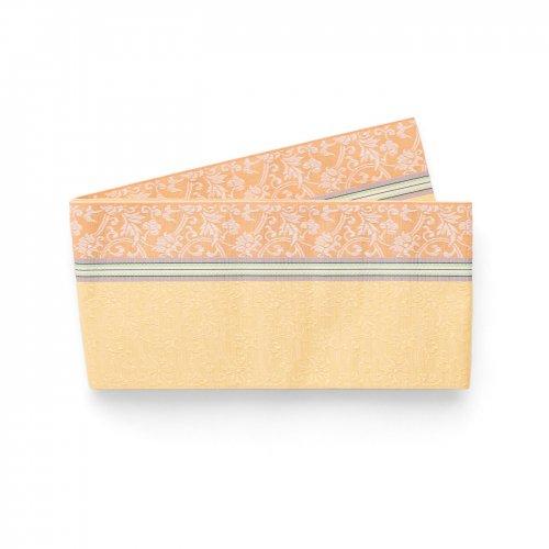 博多小袋帯 オレンジと黄色 唐花模様のサムネイル画像