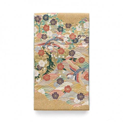 袋帯●波に鳥 枝垂れ桜のサムネイル画像