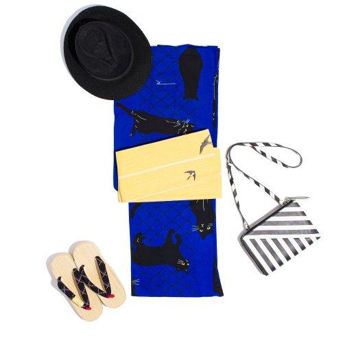 新品浴衣 黒猫のサムネイル画像