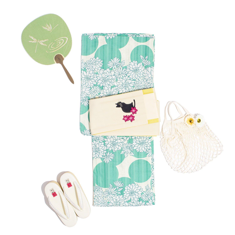 「新品浴衣 水玉と花」の商品画像