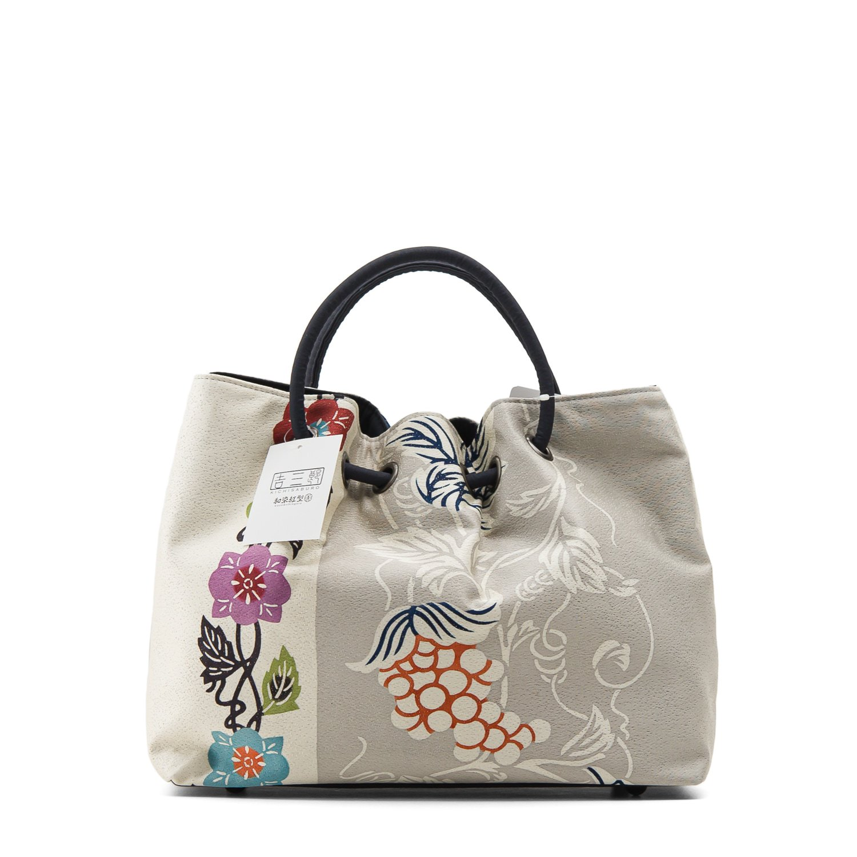 「栗山工房 和染紅型バッグ 葡萄と花」の商品画像