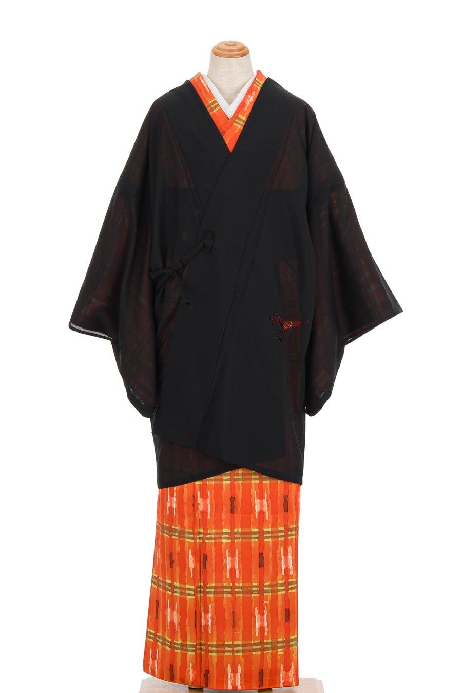 「絽 道中着 透かし織りの笹模様」の商品画像