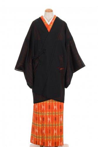 絽 道中着 透かし織りの笹模様のサムネイル画像