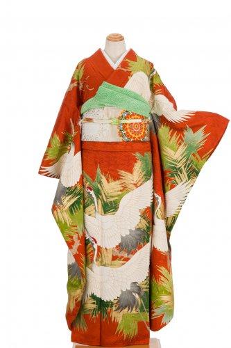 振袖 羽ばたく鶴のサムネイル画像