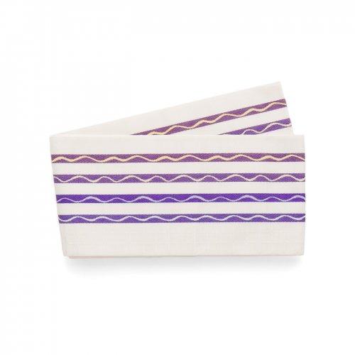 博多小袋帯 紫ボーダー 曲線のサムネイル画像
