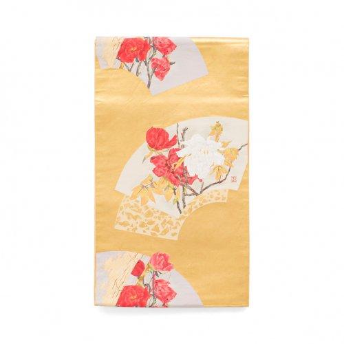 袋帯●扇面に牡丹のサムネイル画像
