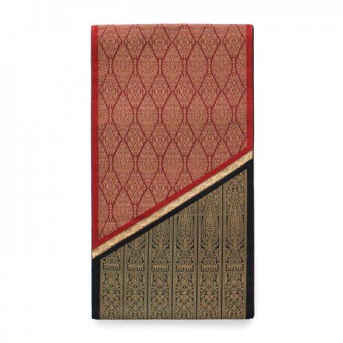 袋帯●赤黒に金ラインのサムネイル画像