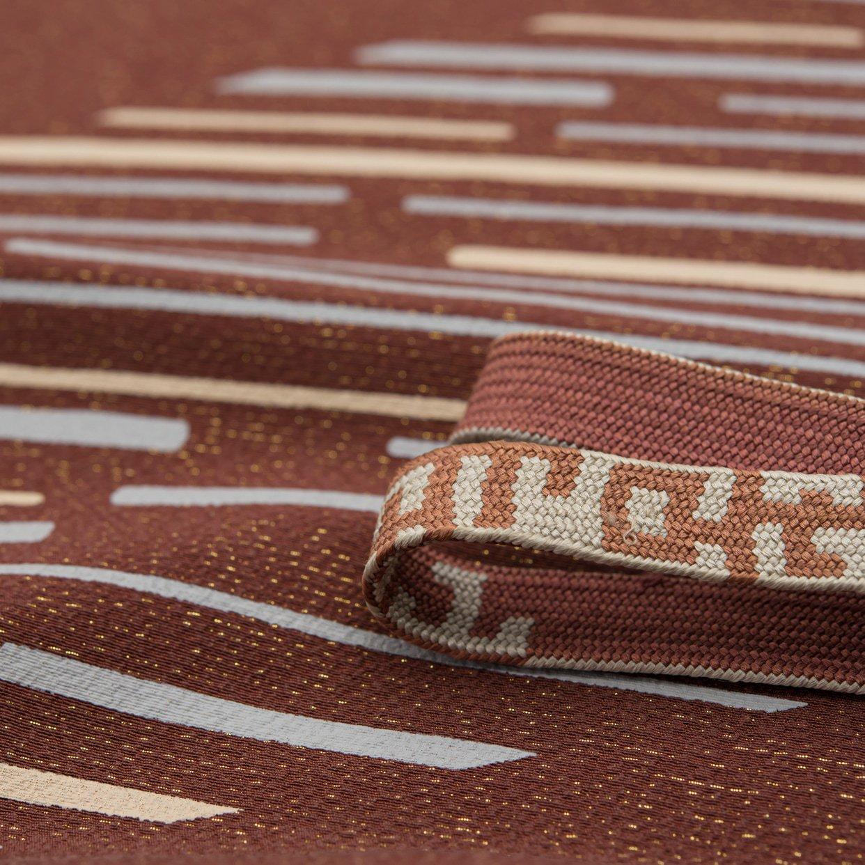 「帯揚げ帯締めセット 金通し 斜めライン」の商品画像