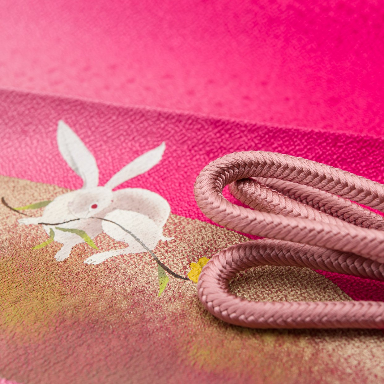 「帯揚げ帯締めセット 花喰い兎」の商品画像