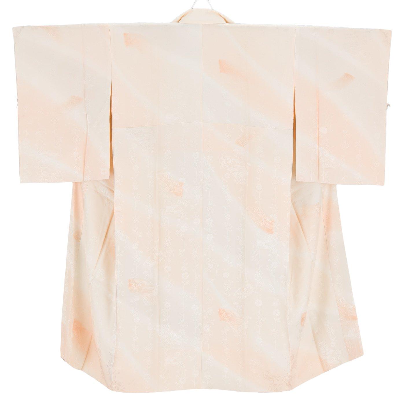 「長襦袢 扇面に御所車 枝垂れ桜」の商品画像