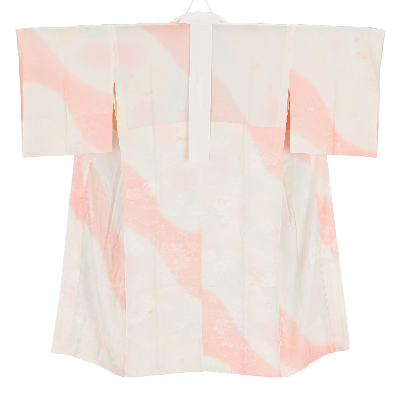 「長襦袢 白とピンク 桜地紋」の商品画像