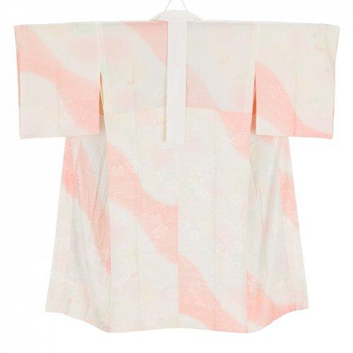 長襦袢 白とピンク 桜地紋のサムネイル画像