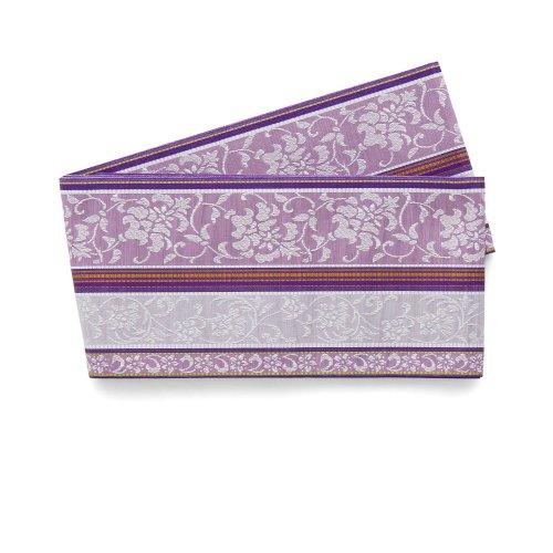 博多小袋帯 縞に唐花 紫のサムネイル画像