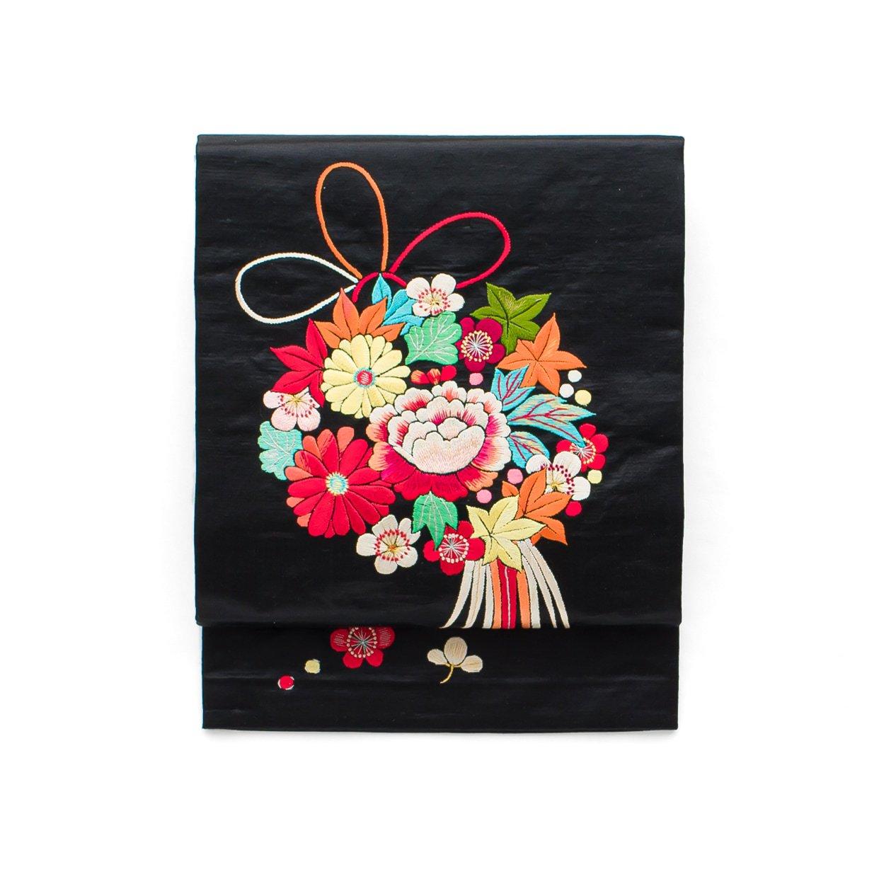 「アンティーク着物 繻子 花薬玉」の商品画像