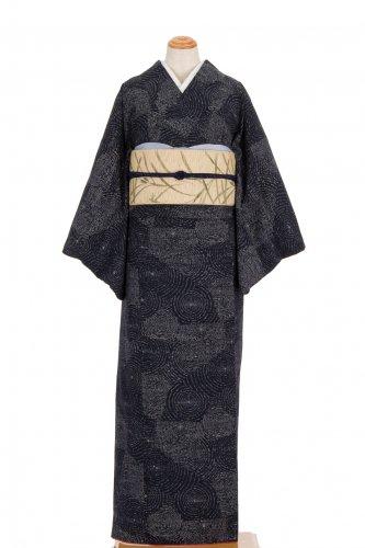 紬 濃紺地 渦巻きのサムネイル画像