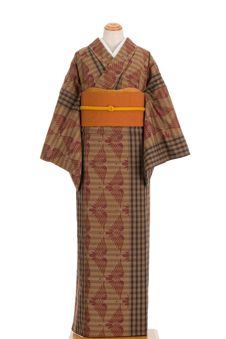 「胴抜きウール●格子と鶴」の商品画像
