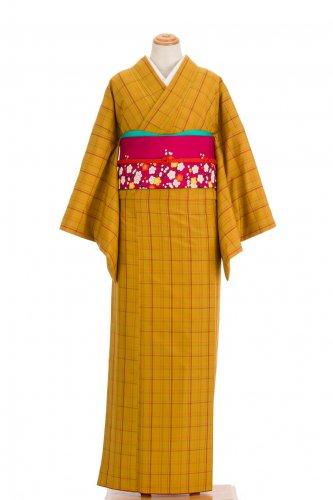 紬 山吹色に格子のサムネイル画像